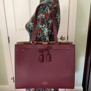 Kate spade tote Hayes cherrywood shoulder bag NWT